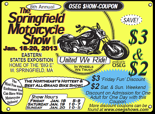 2013 Motorcycle Coupon