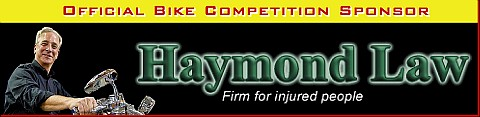 Official Bike Competition Sponsor - Haymond Law Firm
