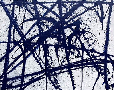 Blue Spikes  - original painting by Mikey Teutul
