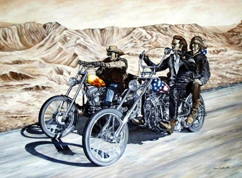 Easy Rider Painting by John Guillemette