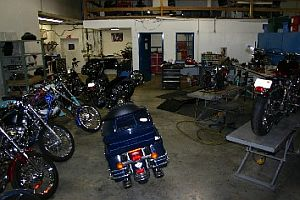motorcycle service shop