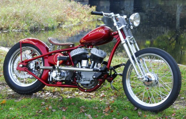 Dave Perewitz - Custom Red Motorcycle