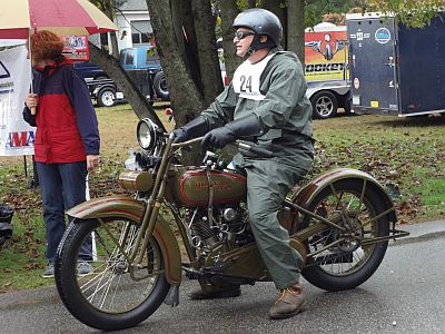 riding a piece of motorcycle history