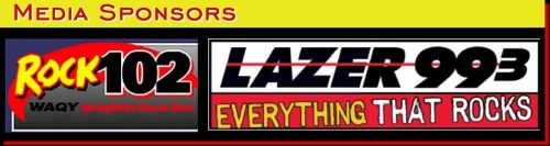 Media Sponsors Rock 102 & Lazer 99.3